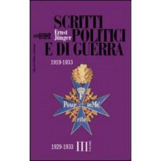 Scritti politici e di guerra 1919-1933. Volume III 1929-1933